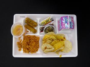 Primary view of object titled 'Student Lunch Tray: 01_20110413_01C4254'.