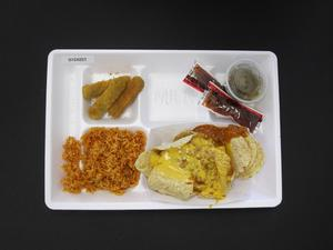 Primary view of object titled 'Student Lunch Tray: 01_20110413_01C4257'.