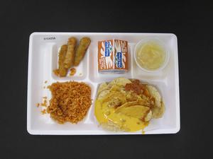 Primary view of object titled 'Student Lunch Tray: 01_20110413_01C4258'.