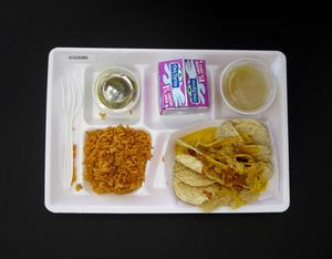 Primary view of object titled 'Student Lunch Tray: 01_20110413_01C4280'.