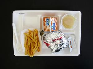 Primary view of object titled 'Student Lunch Tray: 01_20110415_01A5938'.