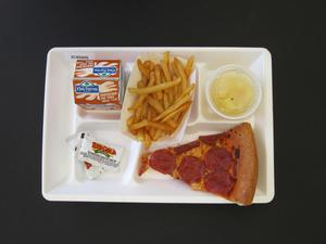 Primary view of object titled 'Student Lunch Tray: 01_20110415_01A5945'.