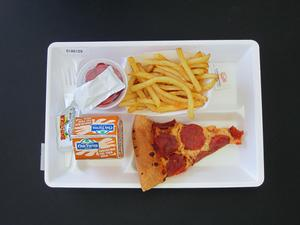 Primary view of object titled 'Student Lunch Tray: 01_20110415_01A6129'.