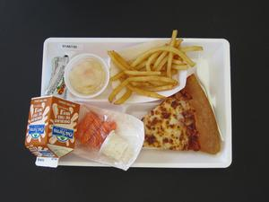 Primary view of object titled 'Student Lunch Tray: 01_20110415_01A6130'.