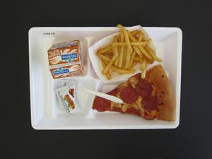 Primary view of object titled 'Student Lunch Tray: 01_20110415_01A6131'.