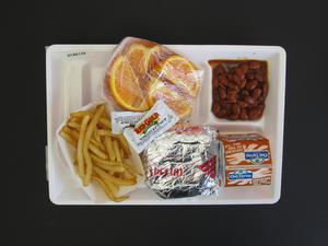 Primary view of object titled 'Student Lunch Tray: 01_20110415_01A6134'.