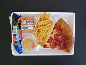 Primary view of object titled 'Student Lunch Tray: 01_20110415_01A6144'.
