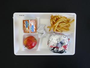 Primary view of object titled 'Student Lunch Tray: 01_20110415_01A6148'.