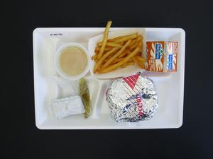 Primary view of object titled 'Student Lunch Tray: 01_20110415_01A6150'.