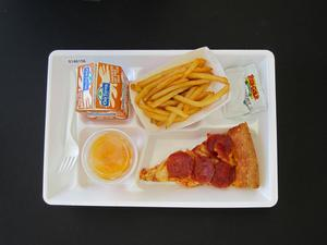 Primary view of object titled 'Student Lunch Tray: 01_20110415_01A6156'.
