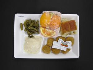 Primary view of object titled 'Student Lunch Tray: 01_20110415_01B5815'.
