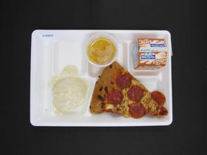 Primary view of object titled 'Student Lunch Tray: 01_20110415_01B5825'.