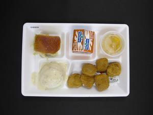 Primary view of object titled 'Student Lunch Tray: 01_20110415_01B5834'.
