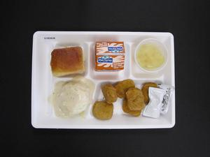 Primary view of object titled 'Student Lunch Tray: 01_20110415_01B5838'.