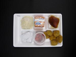 Primary view of object titled 'Student Lunch Tray: 01_20110415_01B5851'.