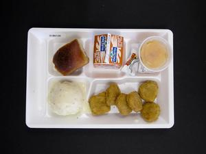Primary view of object titled 'Student Lunch Tray: 01_20110415_01B6126'.