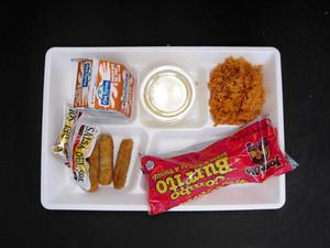 Primary view of object titled 'Student Lunch Tray: 01_20110415_01C5846'.