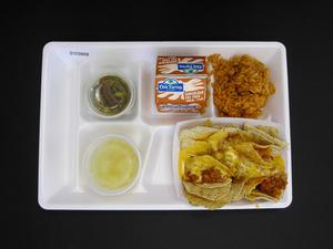 Primary view of object titled 'Student Lunch Tray: 01_20110415_01C5868'.