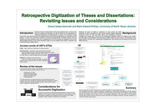 Retrospective Digitization of Theses and Dissertations: Revisiting Issues and Considerations