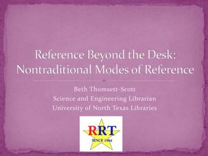 Reference Beyond the Desk: Nontraditional Modes of Reference