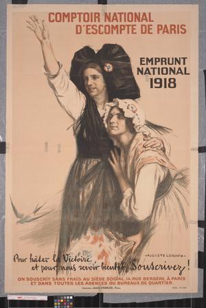 Comptoir National D'escompte de Paris : Emprunt National 1918 : pour hâter la Victoire, et pour nous revoir bientôt, souscrivez!