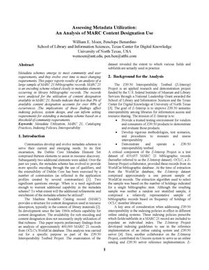 Assessing Metadata Utilization: An Analysis of MARC Content Designation Use