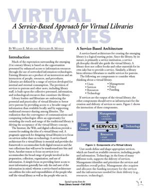 Primary view of object titled 'Virtual Libraries: A Service-Based Approach for Virtual Libraries'.
