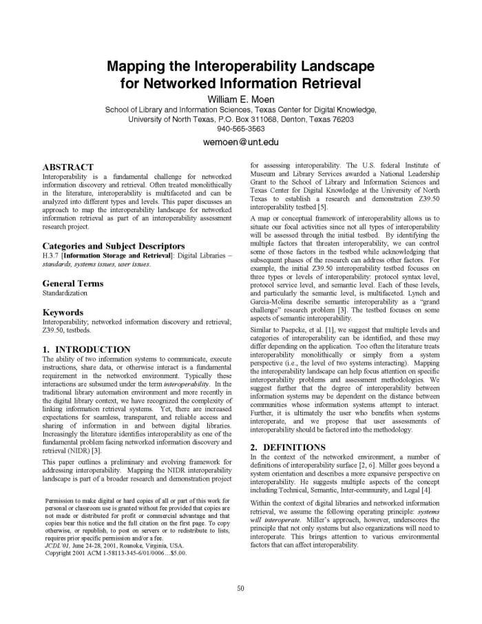 Mapping the Interoperability Landscape for Networked ... on information tracking, information collection, information transfer, information control, information technology, information systems, information extraction, information security, information seeking behavior, information delivery, information access, information integration, information theory, information dissemination, information distribution, information research, information seeking strategies,