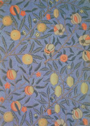 Blue Fruit or Pomegranate (wallpaper design)