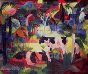 Landscape with Cows and a Camel