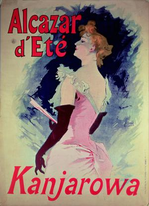 Primary view of object titled 'Poster advertising Alcazar d'Ete starring Kanjarowa'.