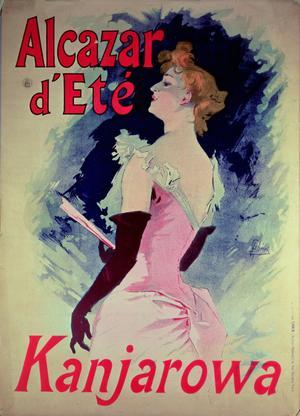 Poster advertising Alcazar d'Ete starring Kanjarowa