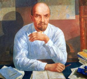 Portrait of Vladimir Ilyich Lenin (1870-1924)