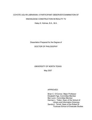... phd dissertation proposal Engineering Barbara Doucet High vs