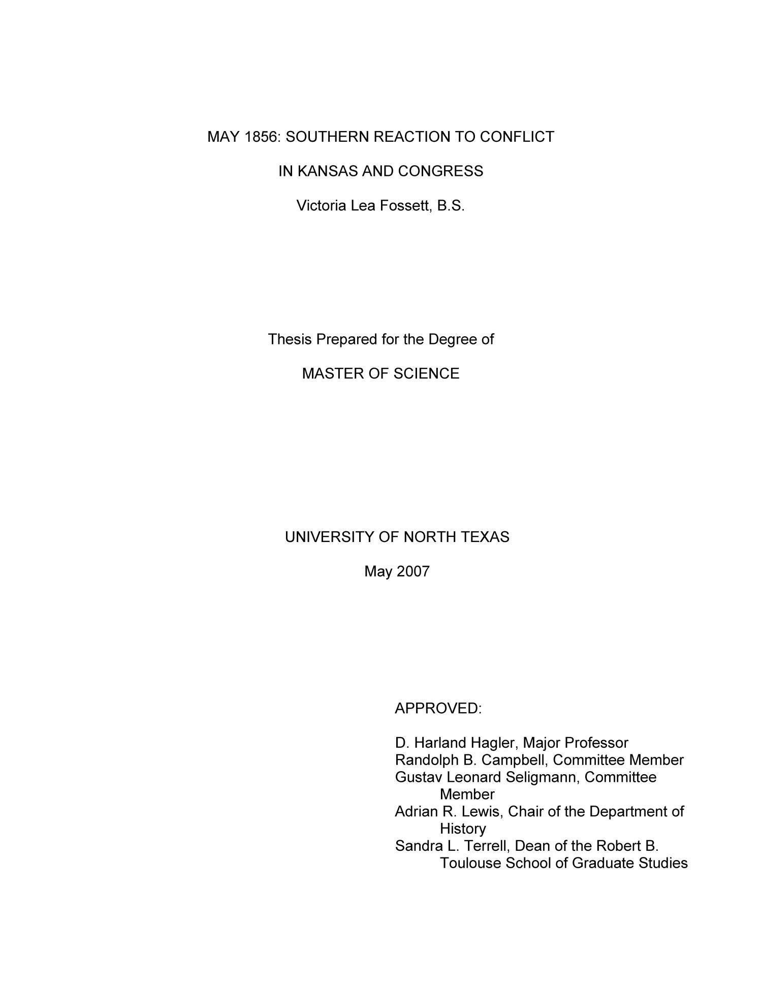 Masters thesis university of kansas