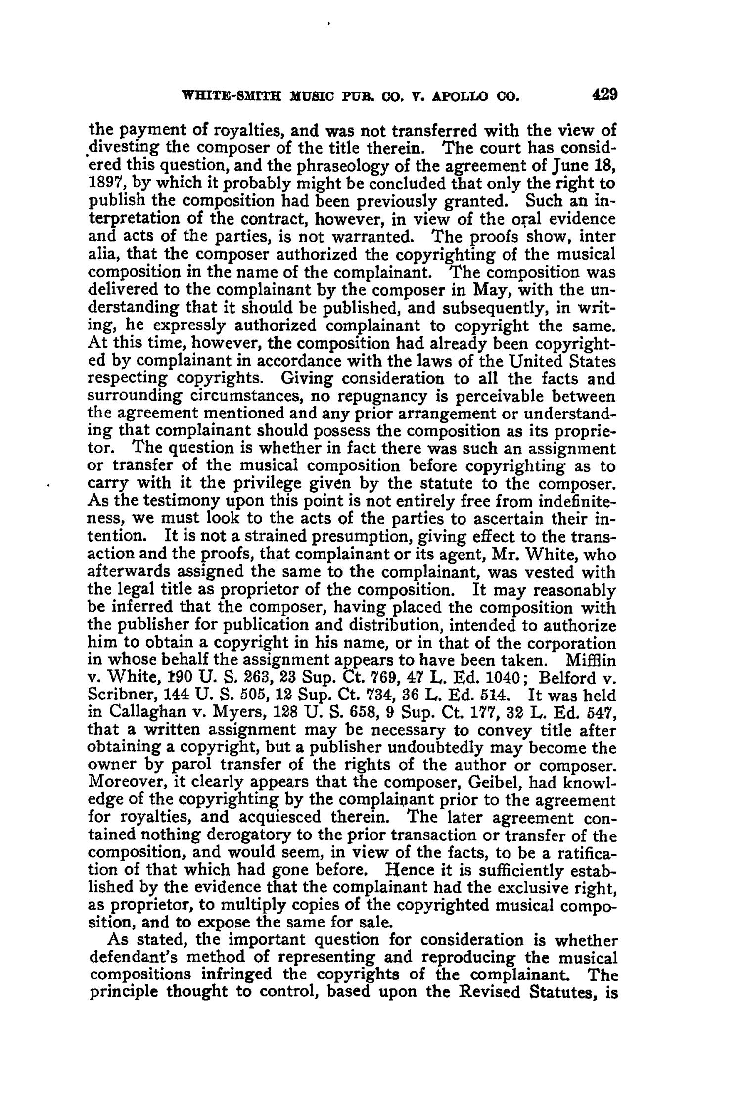 The Federal Reporter. Volume 139 Cases Argued and Determined in the Circuit Courts of Appeals and Circuit and District Courts of the United States. September-December, 1905.                                                                                                      429