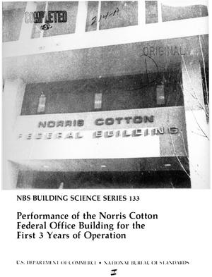 Primary view of object titled 'Performance of the Norris Cotton Federal Office Building for the First 3 Years of Operation'.