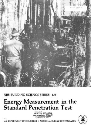 Primary view of object titled 'Energy Measurement in the Standard Penetration Test'.