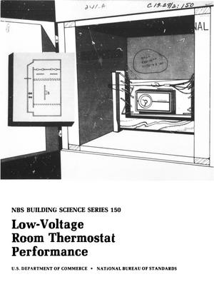 Primary view of object titled 'Low-Voltage Room Thermostat Performance'.