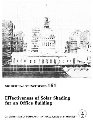 Primary view of object titled 'Effectiveness of Solar Shading for an Office Building'.