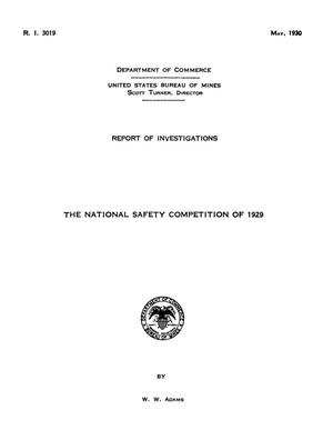 Primary view of object titled 'The National Safety Competition of 1929'.