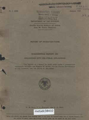 Primary view of object titled 'Engineering Report on Oklahoma City Oil Field, Oklahoma'.