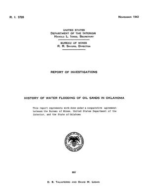 Primary view of object titled 'History of Water Flooding of Oil Sands in Oklahoma'.