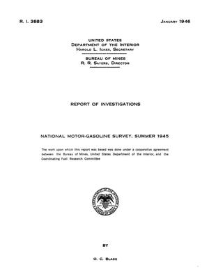 National Motor-Gasoline Survey: Summer 1945