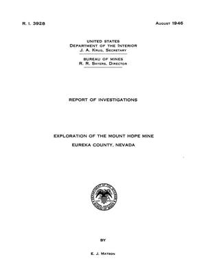 Primary view of object titled 'Exploration of the Mount Hope Mine, Eureka County, Nevada'.