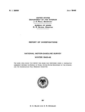 National Motor-Gasoline Survey: Winter 1945-46