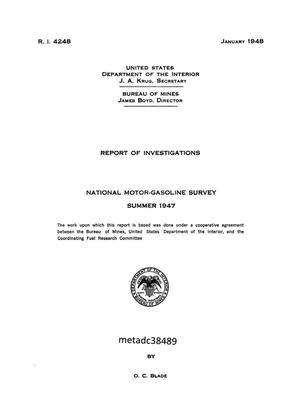 National Motor-Gasoline Survey: Summer 1947