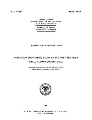 Primary view of object titled 'Petroleum Engineering Study of the West Red River Field, Tillman County, Oklahoma'.