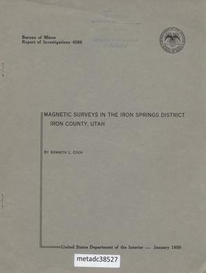 Primary view of object titled 'Magnetic Surveys in the Iron Springs District: Iron County, Utah'.