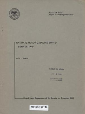 Primary view of object titled 'National Motor-Gasoline Survey: Summer 1949'.